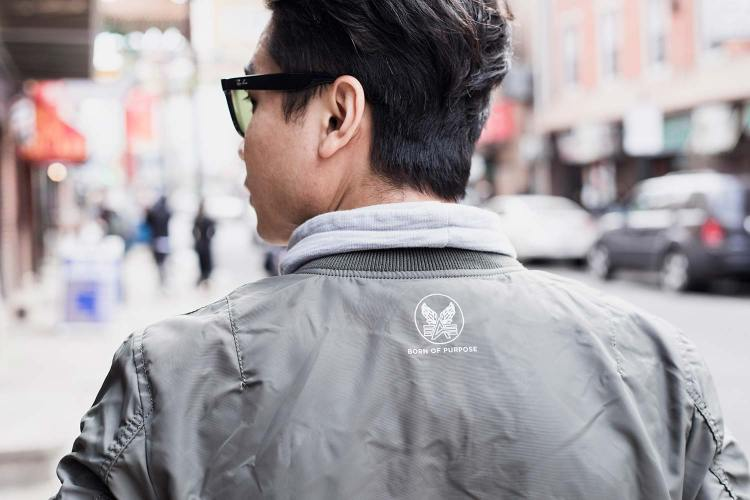 Alpha Industries MA-1 Skymaster Flight Bomber Jacket Back Details