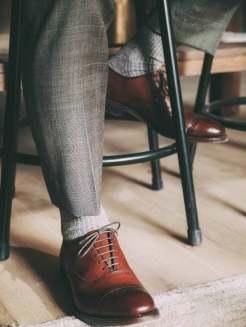 Turtleneck Under Suit Jacket Shoes