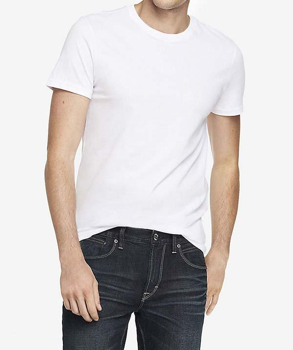 Express White Crewneck T-Shirt