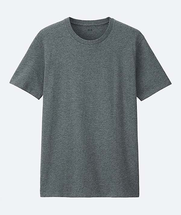 Uniqlo Gray Crewneck T-Shirt