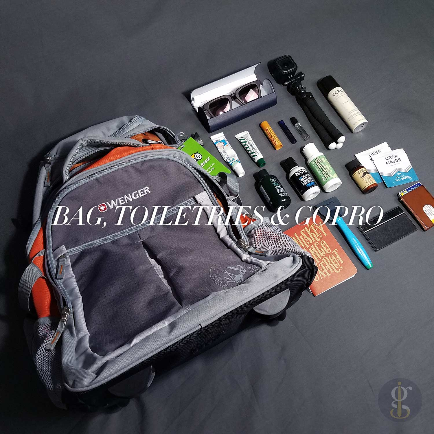 Bag With Toiletries And GoPro | GENTLEMAN WITHIN