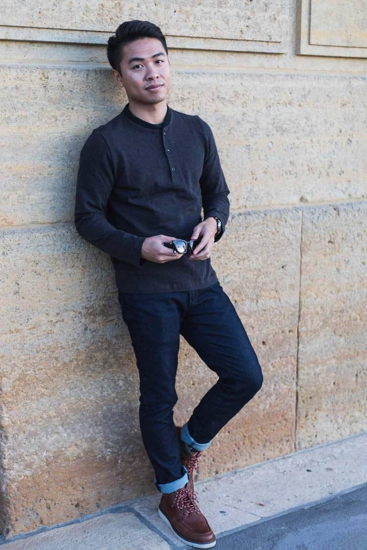 Minimal Streamlined Henley | GENTLEMAN WITHIN
