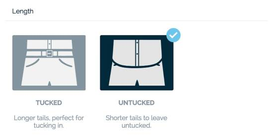 MTailor Shirt Length Customization Options | GENTLEMAN WITHIN