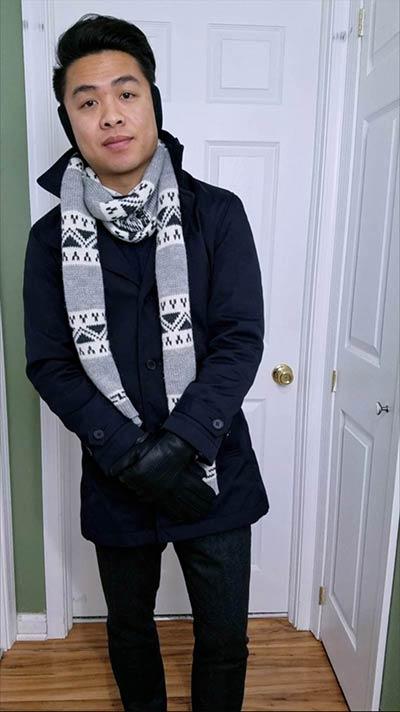Car Coat w/Wool Trousers Look   GENTLEMAN WITHIN