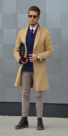 Camel Overcoat Look 1