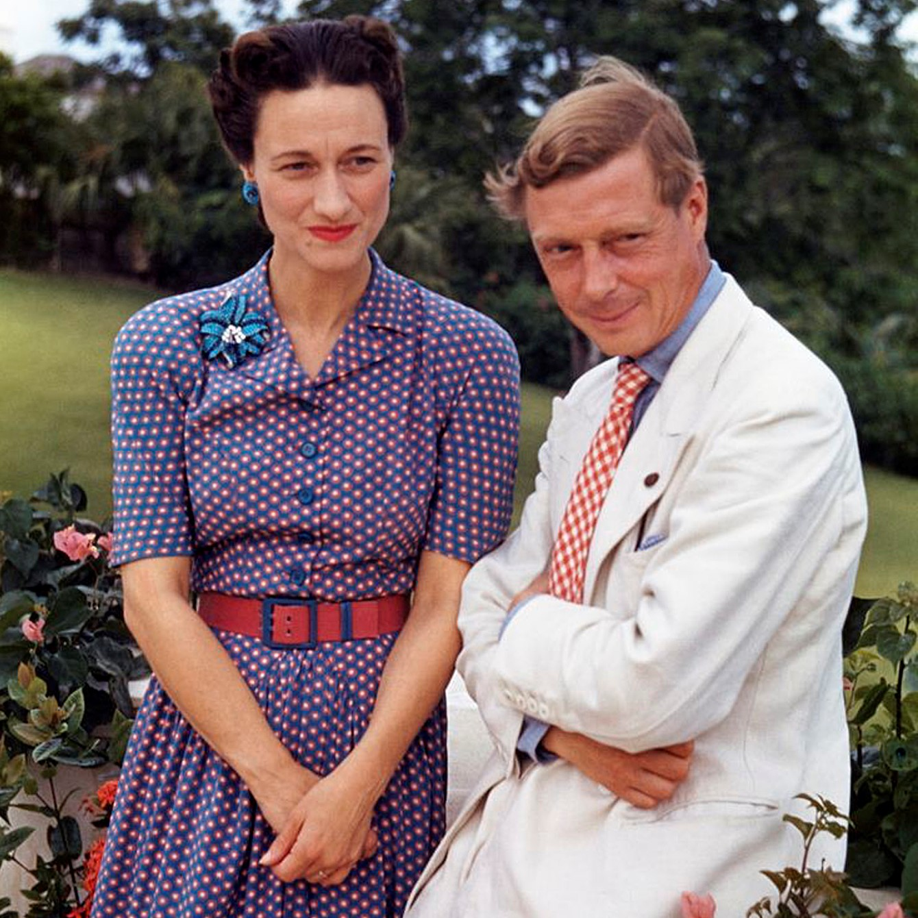 The Duke of Windsor with his wife Duchess Wallis Simpson