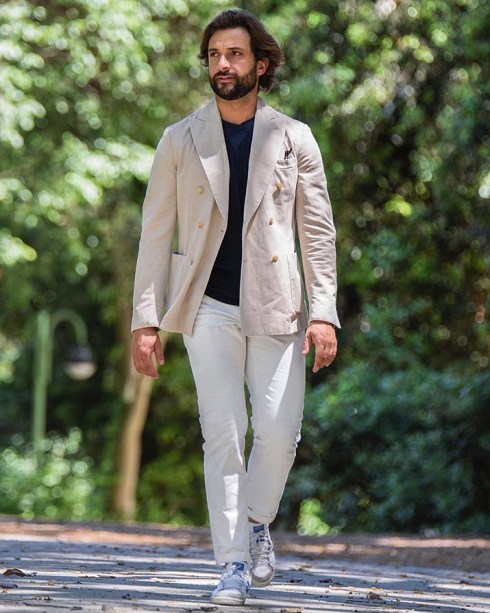 Danilo Carnevale wearing casual shoes.
