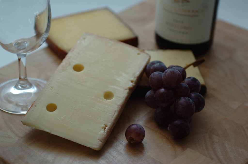 French whiskey and cheese combo