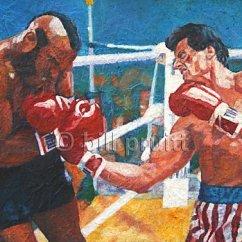 Amazon Rocking Chair Desk Argos Original Oil Painting Of Sylvester Stallone Rocky By Billpruittart   Gentlemint