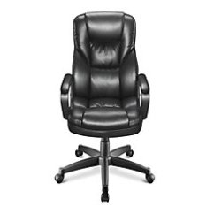 Realspace Fosner High Back Bonded Leather Chair Quirky Bedroom 99 Shipped