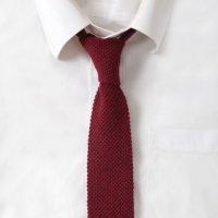Knit Cotton Maroon Tie
