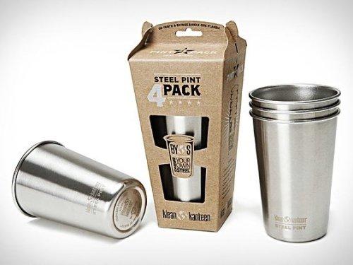 Klean Kanteen Stainless Steel Pint Cups | Uncrate