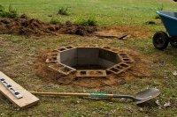 DIY In-Ground Cinder Block Firepit   Gentlemint