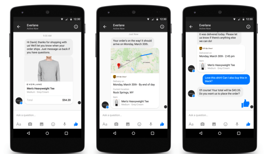 android app with messenger
