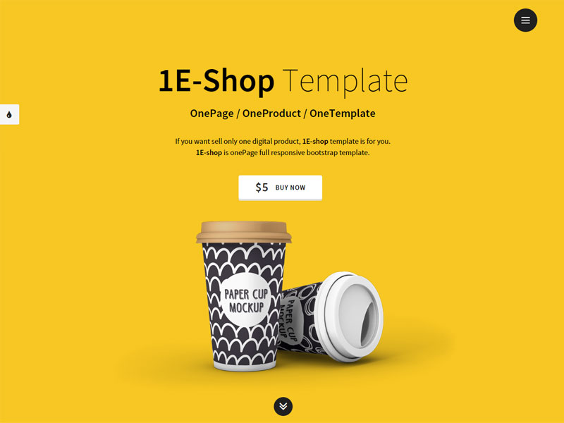 Bootstrap single product website templates
