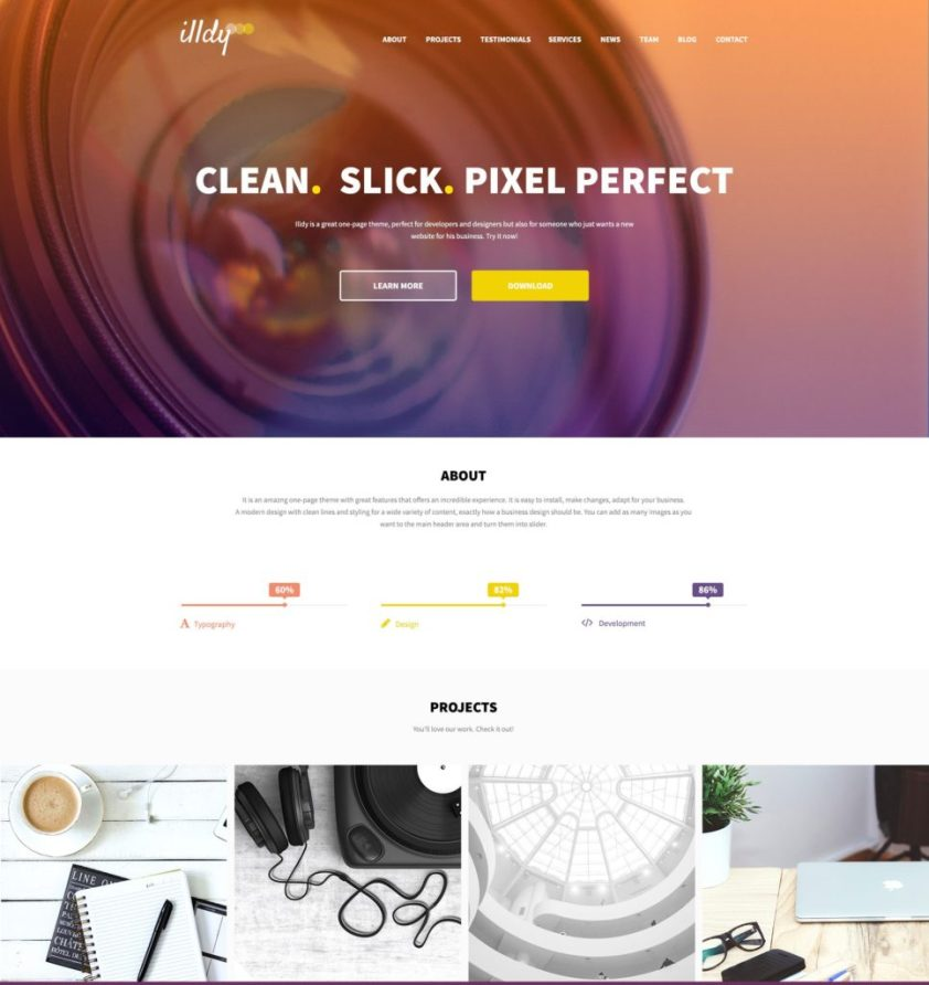 Single product eCommerce website templates