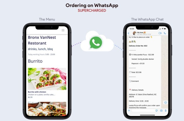 Whatsapp based Food Delivery Script