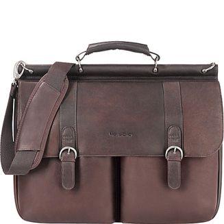 serviete business geanta din piele naturala maro SOLO