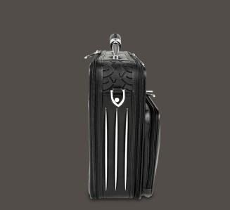 Premium full-grain Nappa leather laptop case