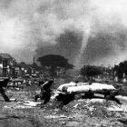 Suasana kota Bandung saat terjadi pertempuran di Bandung pada 24 Maret 1946. (Foto/istimewa)