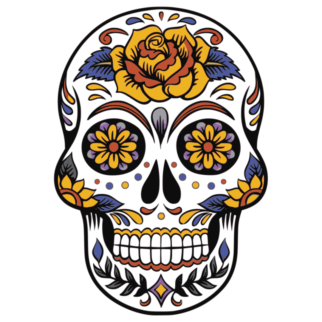 Colorful Dead of The Dead skull image