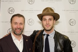 Gordon Clune and Jon Tietz at Left Shoe Company NYC Pop-Up Opening