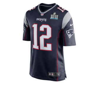 best loved 45bd9 39fe6 Nike | New England Patriots | Tom Brady | Super Bowl LII | Game Jersey |  Navy | Gent's & G's