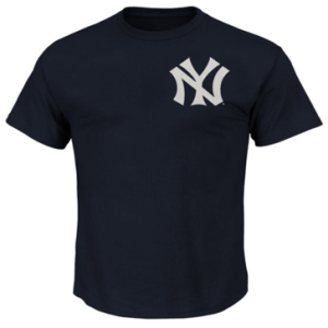 New York Yankees Babe Ruth Majestic Navy Blue Cooperstown Player Name & Number T-Shirt