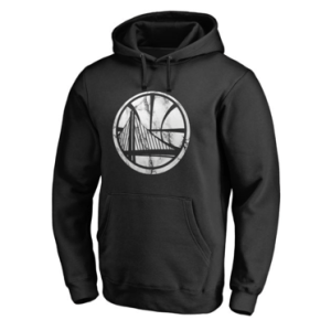 Golden State Warriors Fanatics Branded Black Team Marble Logo Pullover Hoodie