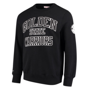 Golden State Warriors Mitchell & Ness Black Playoff Win Crew Sweatshirt
