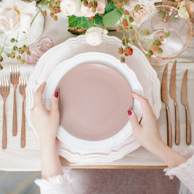 pink wedding reception table decorations