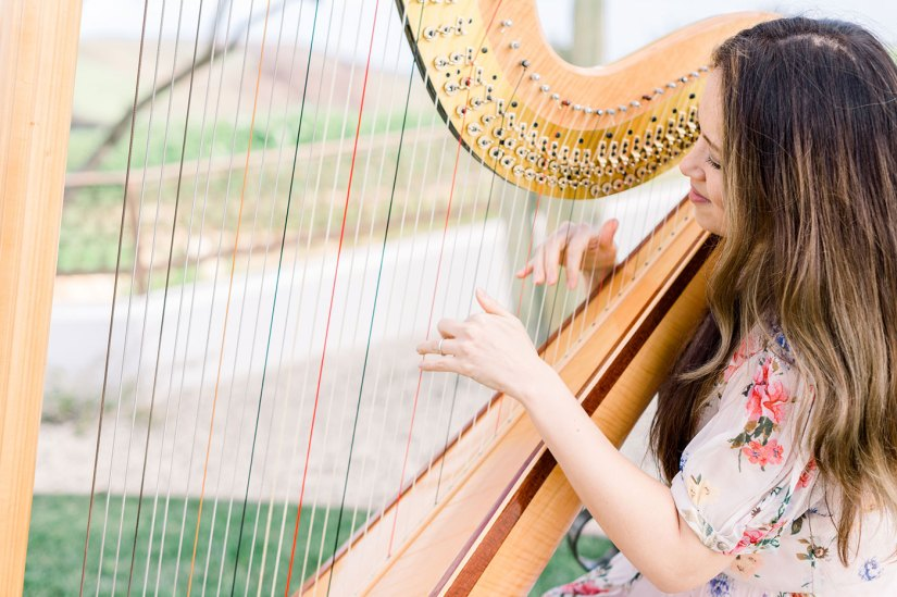 Harpist at wedding