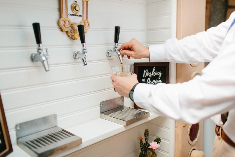 alcohol tap at wedding reception