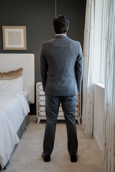 male suit home try on