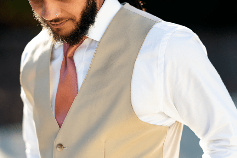 Tan Vest Men's Suit