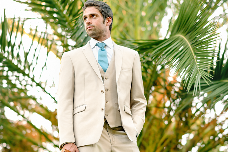 Tan Men's Suit