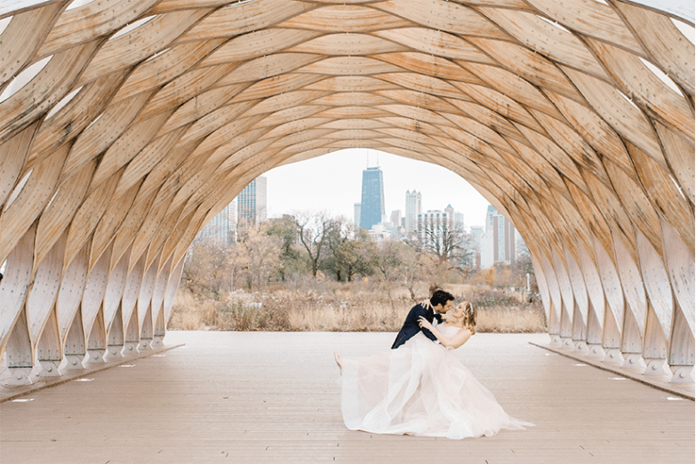 bride and groom at Creative micro wedding venue