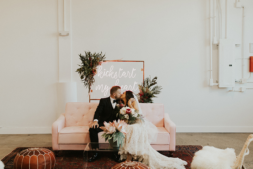 real wedding photo of bride and groom