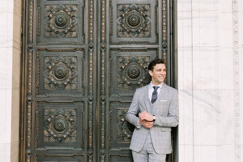 Man in generation tux gray suit