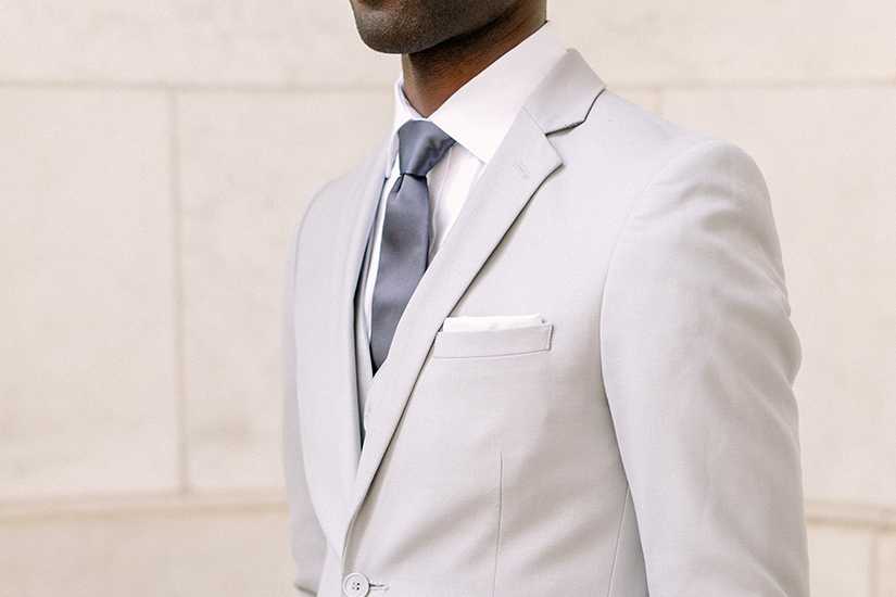 crisp generation tux gray suit with silver tie