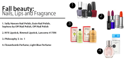 Fall beauty: Nails, lips and fragrance
