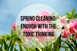 Spring Cleaning:  Seriously, stop with all the toxic thinking