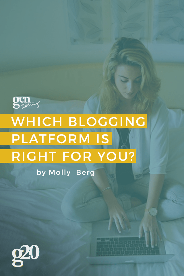 Even if you're just blogging as a hobby, there are so many platforms out there to choose from.