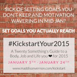 #KickstartYour2015 with Australian Life Coach Maddison Vernon