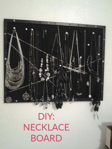 Make Your Own DIY Necklace Board!