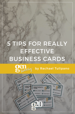 5 Tips to Create Effective Business Cards