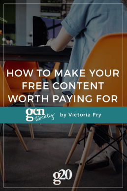 How To Make Your Free Content Worth Paying For