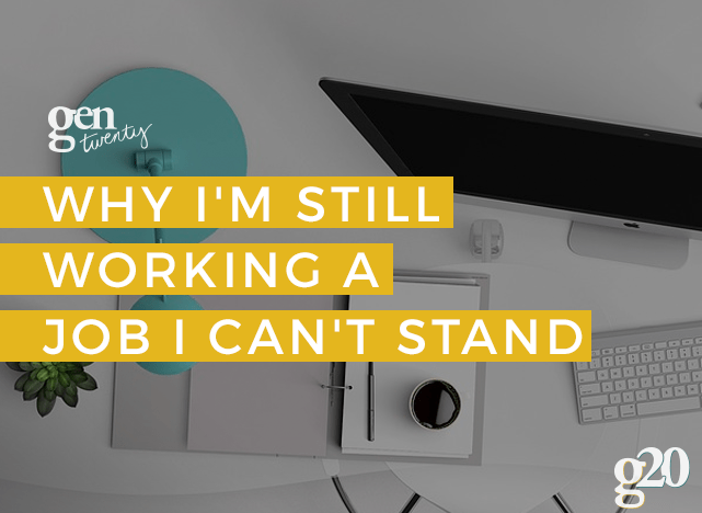 My job sucks. But for now, staying is better than leaving. Here's why.