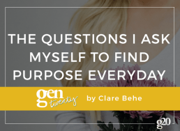 The Questions I Ask Myself to Find Purpose in Day-to-Day Life