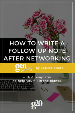 How To Write a Follow-Up Email or Handwritten Note After a Networking Event (+ FREE templates!)
